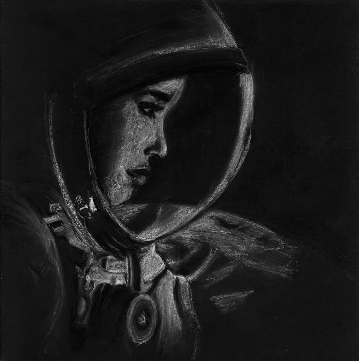 20burkwoodi Beyond Charcoal On Paper 30x30cm