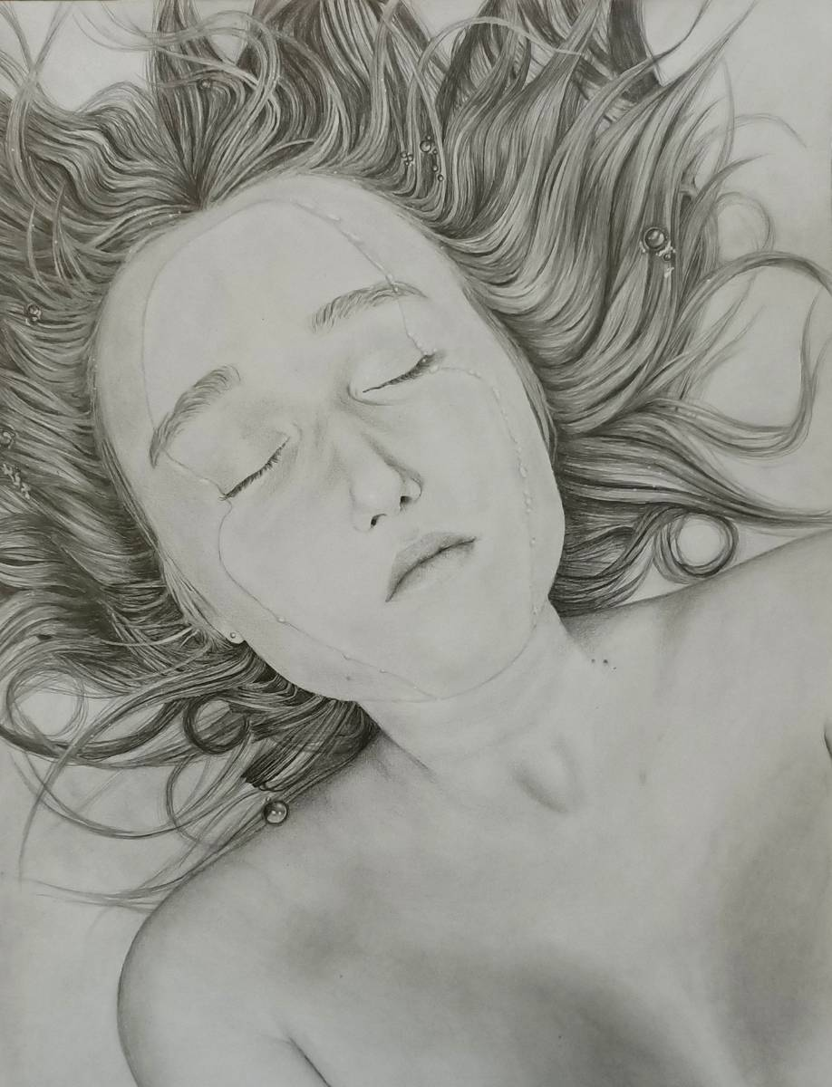 21chapmanr Immersed Self Portrait Graphite On Paper 29.7x42cm 1