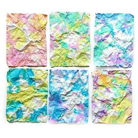 Scrunch Paper Tile