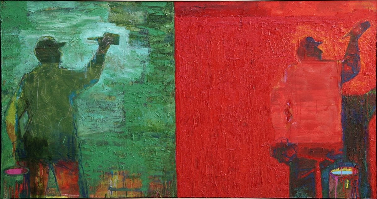 Ian Smith Red & Green Painter 2008