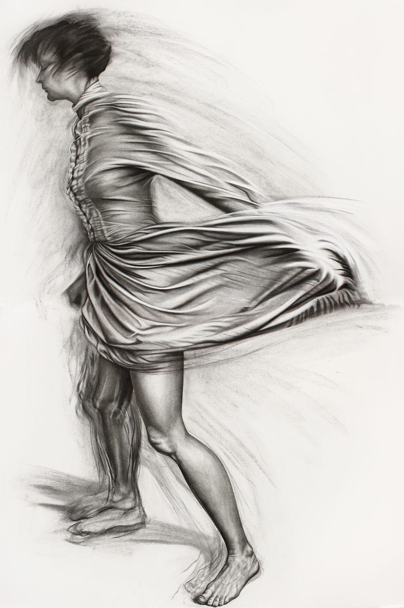 Andersonk Mourning Dance Ii Charcoal Copic Pen And Pastel On Paper 150x100cm