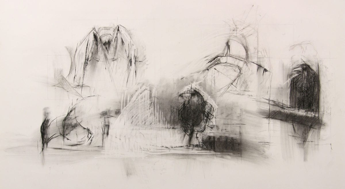 Woolfe Lisa Plateau 6 120x150cm Charcoal On Fabriano Paper 2018 1
