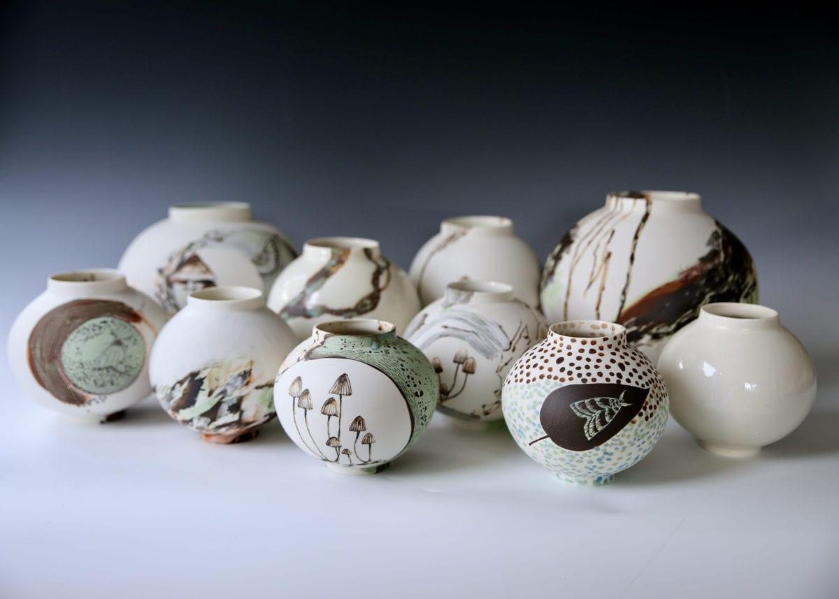 O Horizon Moon Vases