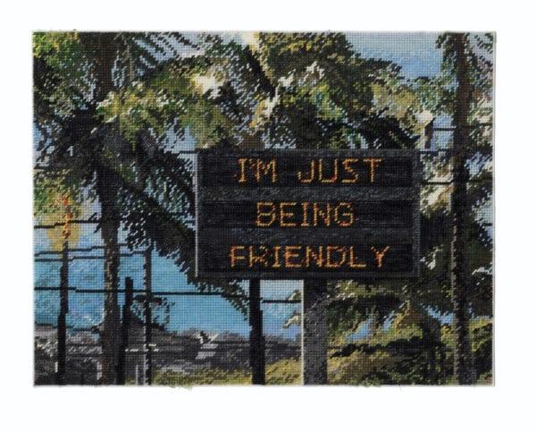 Michelle Hamer, I'm Just Being Friendly (2019) 51x 66cm