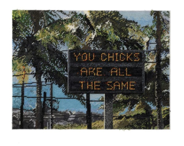 Michelle Hamer, You Chicks Are All The Same (2019) 51x66cm