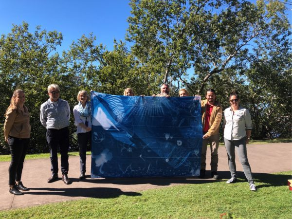 Council Staff With Their Group Cyanotype