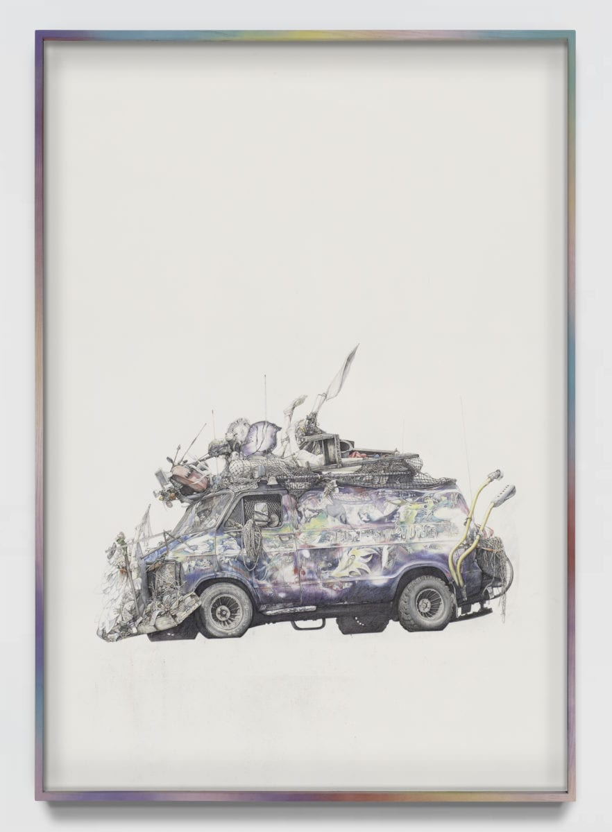 Paul White Apocalyptic Breakdown (somewhere Over The Rainbow) 140 X 100 Cm Pencil On Paper 2021